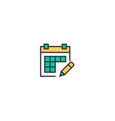calendar icon design interaction icon design vector image