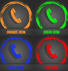 Call icon Fashionable modern style In the orange vector image