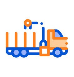 cargo water trailer vehicle thin line icon vector image