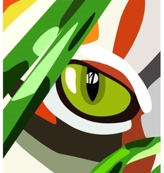 cat eye vector image