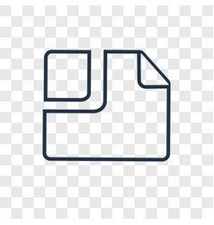 Clip concept linear icon isolated on transparent vector