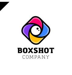 color square camera shutter mark box photo camera vector image