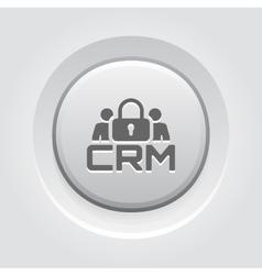 CRM Security Icon vector image