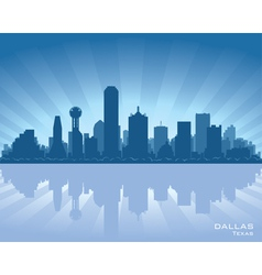 Dallas texas skyline vector