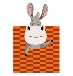 Donkey with bad texture on white background vector