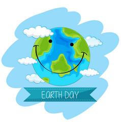 Earth day concept poster vector