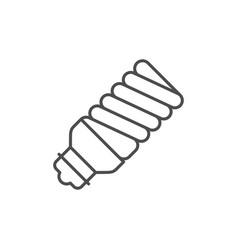Energy saving lamp line icon vector