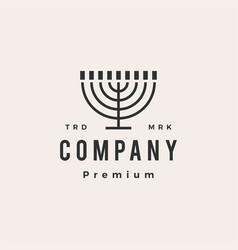 enorah hanukkah candle jews judaism hipster vector image