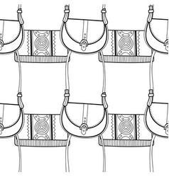 Fashionable handbags black and white seamless vector