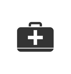First aid kit icon flat vector