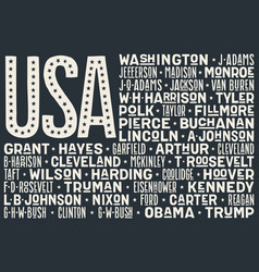 flag usa poster united states america vector image