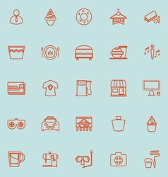 Franchisee business line orange color icons vector image