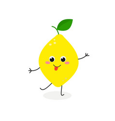 funny cartoon lemon vector image