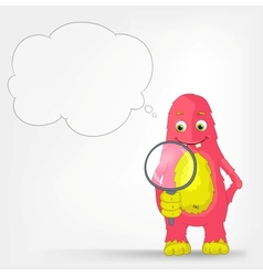 Funny Monster Search vector image