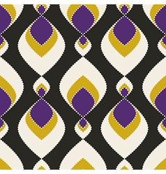 Geometric abstract seamless pattern on black vector