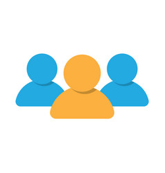 Group people icon vector