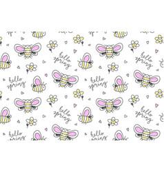 Hand drawn butterflies seamless pattern vector