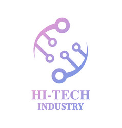 Hi-tech logo technology logo computer and data vector