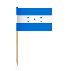honduras flag flag toothpick 10eps vector image