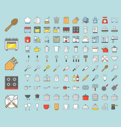 Kitchen utensils and device bakery equipments vector