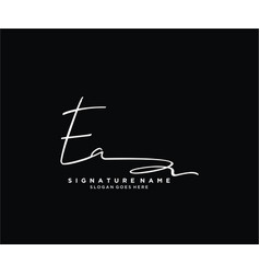 Letter ea signature logo template vector