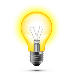 Light bulb on white background vector image