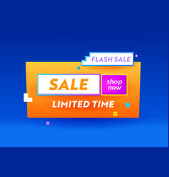 Limited time flash sale banner for digital social vector