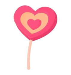 Lollipop heart icon cartoon style vector image