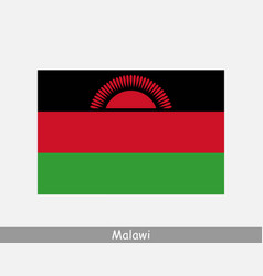 malawi malawian national country flag banner icon vector image
