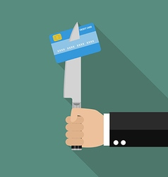 Man knifed credit card vector