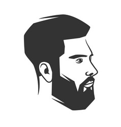 mans face with beard vector image