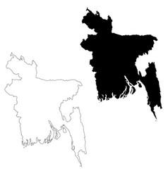 map bangladesh isolated vector image