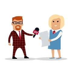 Media Workers Characters vector image