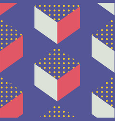 Mid century retro geometric seamless pattern vector