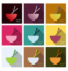 Miso soup japanese food graphic object top view vector