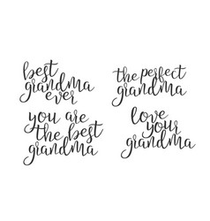 modern calligraphy ink of word grandma vector image
