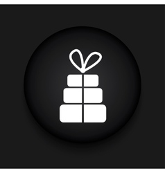 modern gift black circle icon vector image