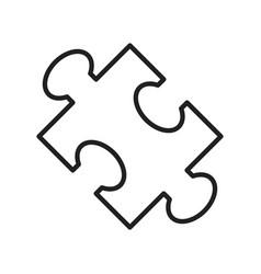 monochrome puzzle icon linear vector image