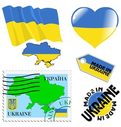National colours of Ukraine vector