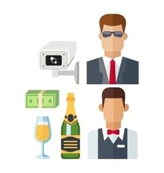 Night club icons vector image