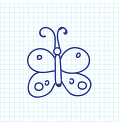 Of travel symbol on butterfly vector