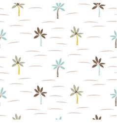 palm tree beach seamless pattern texture vector image