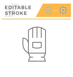 Protective glove line icon vector