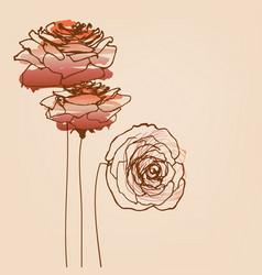 roses card beautiful symbols love vector image