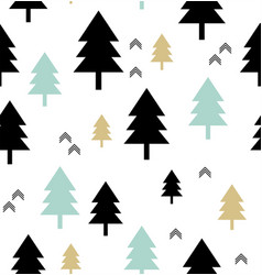 Scandinavian style seamless pattern with vector
