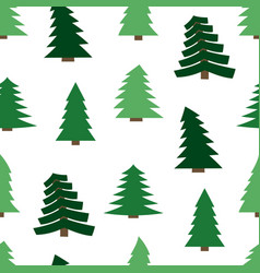 seamless pattern with spruces vector image
