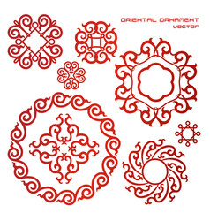 Set of ornament typical for asian vector