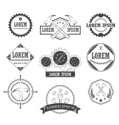 Set of vintage retro tools labels vector