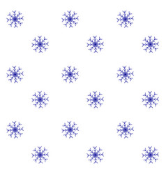 snow seamless pattern blue white background vector image
