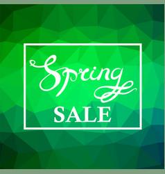 Spring sale lettering design vector